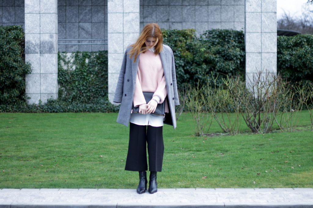 Jessika Fashion Layering Culottes Fashion Blog Blogger Style Blog Pastel Oversitze Zara Booties Stiefeletten Culotte Promod Mango_-2
