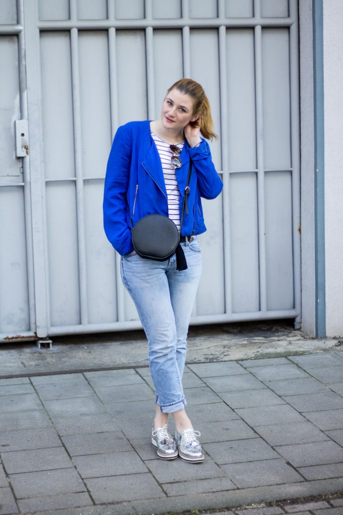 Jessika Fashion Outfit Post Style Blogger Germany Silver Sneaker Metallic Spring Look Zara Gap Jeans Boyfriend Asos H&M-3