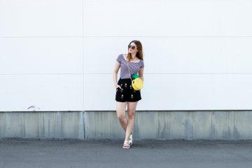 Pineapple Bag-Blogger-Style-Blogger-Fashion-Blogger_Jessika Fashion_Pineapple_Bag_Asos_Skinny_Dip_Striped_Shirt_Statement_Bag_Sunnies_Zara_Blogger_Mango_H&M